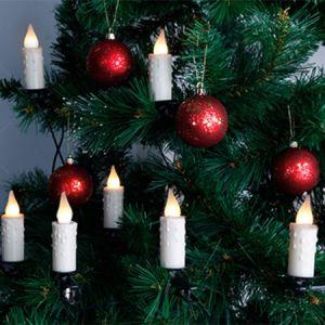 Guirlande led 10 bougies pour sapin