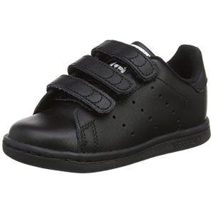 Adidas Stan Smith CF, Baskets mixte bébé, Noir (Core Black/Core Black/Footwear White 0), 22 EU