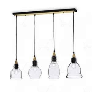 Ideal lux Suspension 4 lampes design Gretel 122557