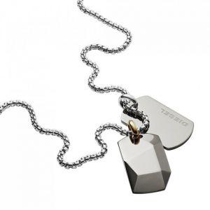 Diesel Collier et pendentif Bijoux DX1144040 - Collier et pendentif Acier Chromé Homme