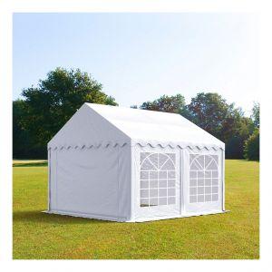 Intent24 Tente de réception 4 x 4 m PVC blanc