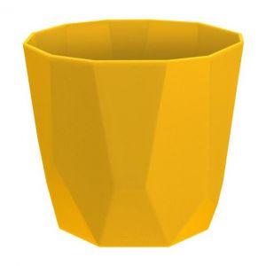 Elho Cache Pot Géométrique Rock b.for 18 cm Moutarde