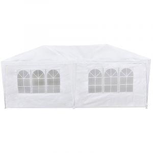McHaus Tente de réception pliable blanche 3x6m
