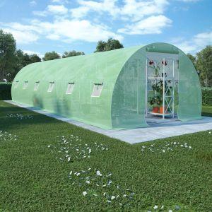 VidaXL Serre avec fondation en acier 27 m² 900x300x200 cm