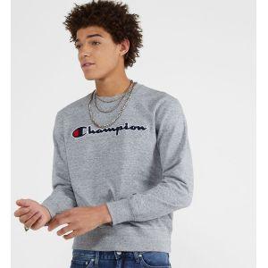 Champion Pull Homme Sweat-shirt graphique, Gris Gris - Taille EU S,EU M,EU L,EU XL,Unique