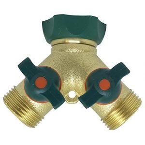Raco Expert Nez de robinet 2 voies laiton bi matire 20x27