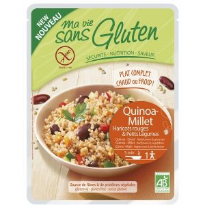Ma vie sans gluten Céréales cuisinées quinoa-millet, haricots rouges légumes 220gr