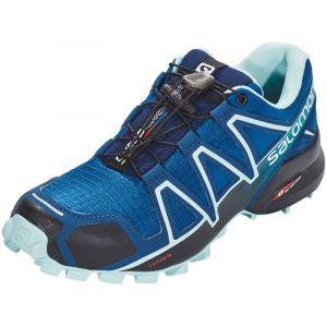 Salomon Femme Speedcross 4 Chaussures de Trail Running, Bleu (Poseidon/Eggshell Blue/Black), Taille: 40 2/3