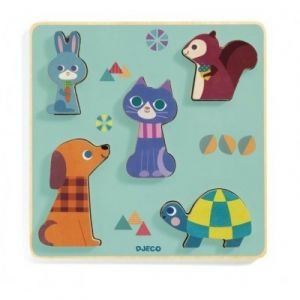 Djeco Puzzle en Bois - Moustacha