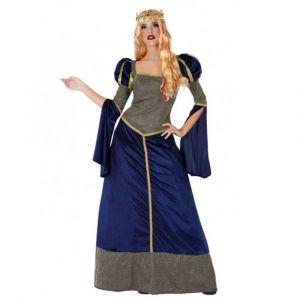 Déguisement Dame Du Moyen-Age - Bleu - Femme - Tailles : XL - 42/44, XS/S, M/L