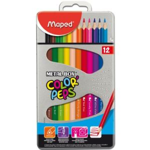 Maped 12 Crayons de couleur Color'Pep's assortis