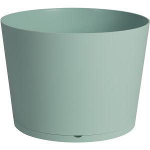 Grosfillex Pot TOKYO mint modulable avec soucoupe 80x57,5 cm