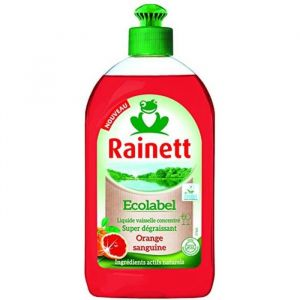 Rainett Liquide Vaisselle Main Orange Sanguine - Lot de 4 (4x 500 ml)