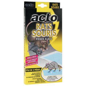 Ferox Pieges à glue pour rats et souris 2 pièges