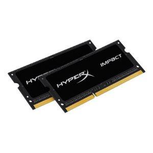 Image de Kingston HX318LS11IBK2/8 - Barrette mémoire HyperX Impact Black 8 Go 1866MHz DDR3L CL11 SODIMM (Kit of 2)