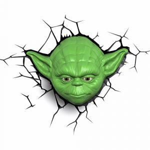 Applique Star Wars LED 3D tête de Yoda