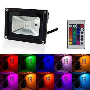 Superled Projecteur LED RGB 10W avec télécommande Noir - RGB - multicolore