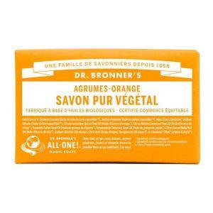 Dr bronner's Savon pur végétal agrumes orange 140 g
