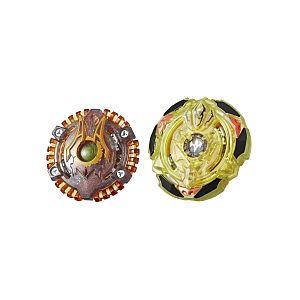 Hasbro Toupie Beyblade Burst Slingshock - Coffret 2 Toupies - Lava-X Anubion A4 + Spiral Treptune T4