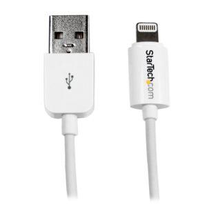 StarTech.com USBLT30CMW - Câble Lightning vers USB pour iPhone, iPod, iPad 30 cm