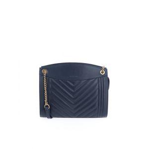 Nat et Nin <p>Le sac Simone a un style rétro assuré, suspendu à des chaînes qui coulissent selon votre envie de le porter long ou court sur l'épaule.<br />A l'intérieur vous trouverez une poche téléphone, deux poches plaquées dont une zippée et une fente