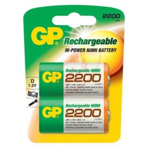 GP Batteries 2 piles rechargeables LR20 1,2 V 2200 mAh