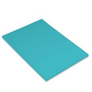 Canson Iris Vivaldi Papier couleur A4 Lisse 185g/m² 21 x 29,7 cm Bleu Turquoise Lot de 50