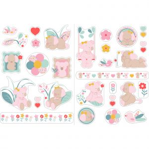 Nattou Iris & Lali autocollants décoratifs - N/A