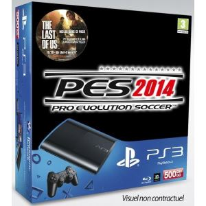 Sony PS3 Ultra Slim 500 Go + PES 2014 + The Last of Us