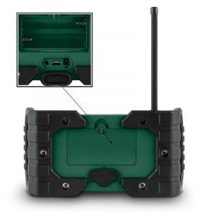 OneConcept Enceinte d'extérieur tuner radio DAB+ FM Bluetooth MP3 USB AUX IP54