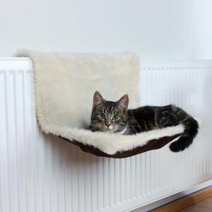 Trixie Hamac de radiateur en peluche (45 x 31 x 26 cm)