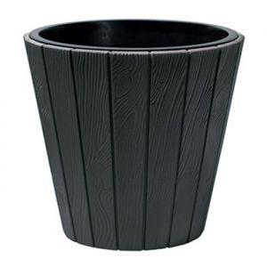 PROSPERPLAST Pot rond Woode Ø 488 mm Gris anthracite