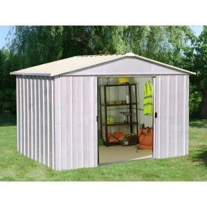 Yardmaster Eco 1010ZGEY - Abri de jardin en métal 8,12 m2