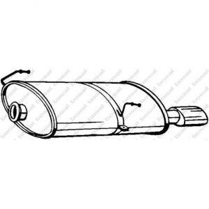 Bosal Silencieux arrière 190-619