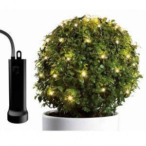 Kaemingk Guirlande lumineuse pour boule en buis par piles 80 cm