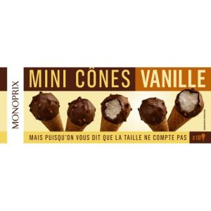 Monoprix Mini cônes vanille