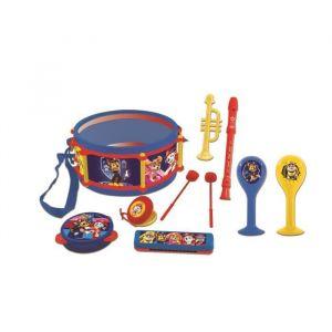 Lexibook PAT PATROUILLE - Set de 7 Instruments de Musique - Tambour, Maracas, Castagnette, Harmonica, Flûte, Trompette & Tambourin