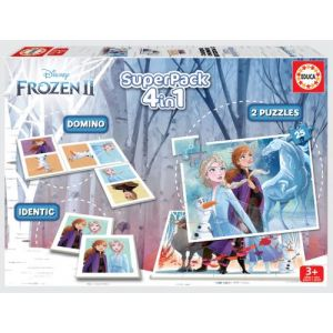 Alsbach - Educa Super Pack 4 en 1 - Disney Frozen La Reine des Neiges 2