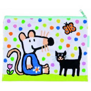 Petit Jour MM624E - Pochette toile cirée Mimi dans son jardin