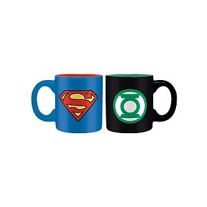 Abysse Corp Set 2 mini-mugs Dc Comics Superman & Green Lantern