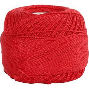 42130 Fil de coton Rouge 125 m 20 g