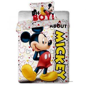 Parure housse de couette et 1 taie d'oreiller Mickey Disney (140 x 200 cm)