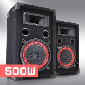 Auna Paire d'enceintes DJ pour Sono Disco Haut Parleurs 2 Voies (Subwoofer 20cm 500W Max.)