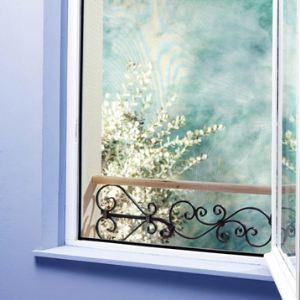Moustiquaire pour fenêtre avec fixation auto-agrippante (100 x 100 cm)