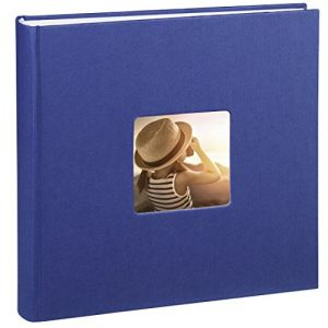 Hama Jumbo Album-photo Fine Art (30 X 30 cm, 100 Pages, 50 Feuilles, avec Encoche pour Insertion de la Photo) Bleu