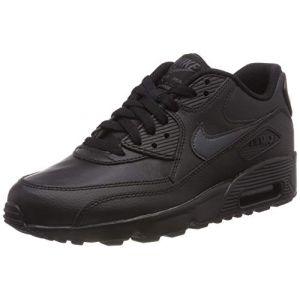Nike Basket mode sneaker air max 90 jr noir gris 39
