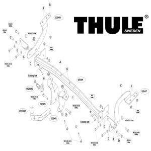 Brink Thule Attelage Peugeot 5008 09/09 Col de cygne - A partir de Septembre 2009