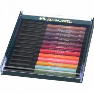 Faber-Castell Lot de 12feutres pinceaux Pitt Couleurs automnales