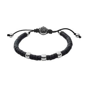 Diesel Bracelets Bracelet en Agate Noire Homme Noir - Taille Unique