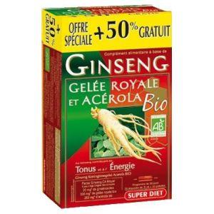 Super Diet Ginseng Gelée Royale Acérola Bio (20 ampoules)